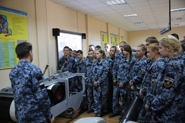 Измаильский учебно-тренировочный отряд морской охраны посетили лицеисты
