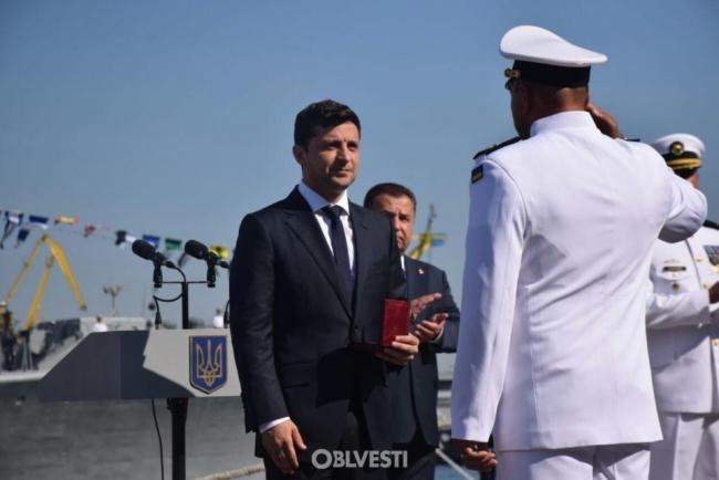 Зеленский прибыл в Одессу ко Дню ВМС