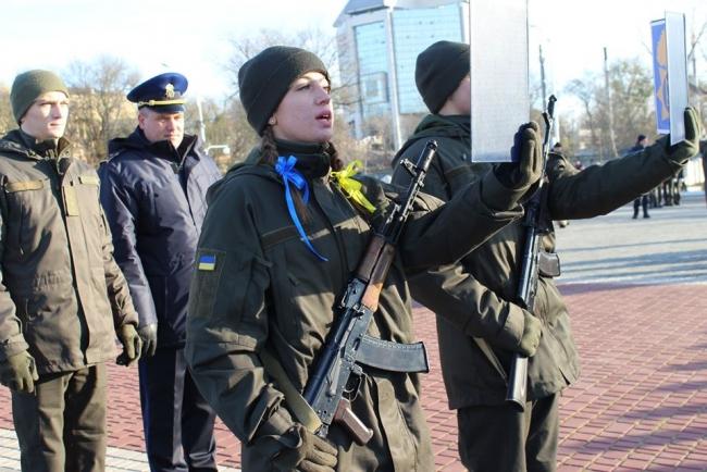 Военнослужащие Национальной гвардии в Измаиле присягнули на верность украинскому народу