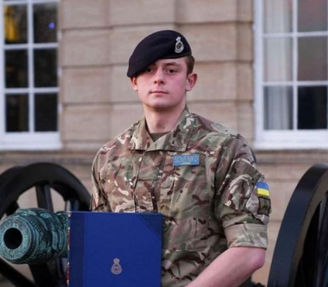 Украинский курсант стал лучшим иностранным выпускником Королевской академии сухопутных войск Великобритании