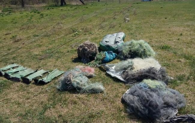 На озере Ялпуг пограничники изъяли у браконьеров более одного километра запрещенных сетей и 60 раколовок