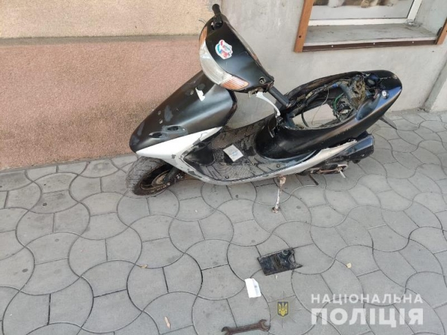 В Измаиле полицейские по горячим следам поймали угонщика скутера