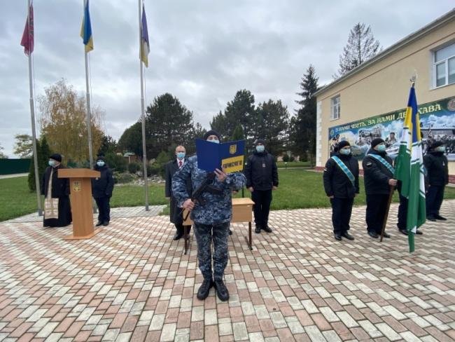 В Учебном центре Морской охраны 35 курсантов-срочников присягнули на верность Украине