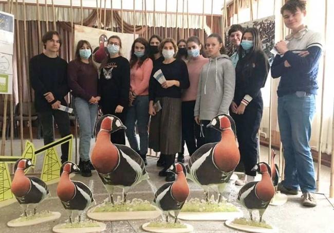 В Вилково приехала передвижная выставка, посвящённая редчайшей птице