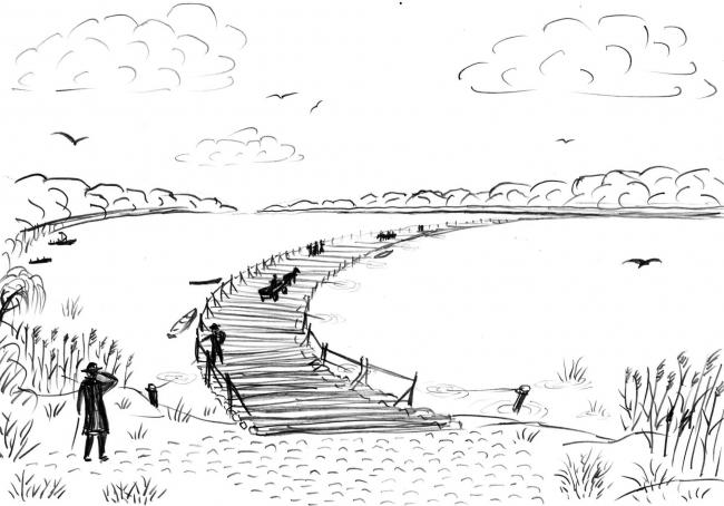 Давным-давно между Измаилом и дунайским островом был мост